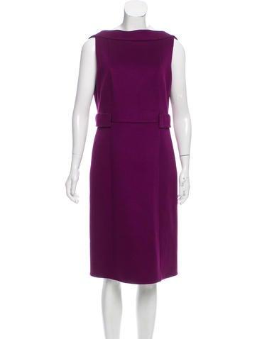 Akris Cashmere Knee-Length Dress None