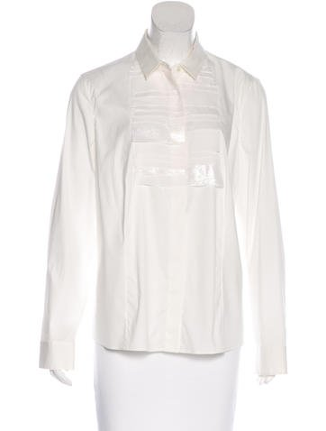 Akris Pleated Button-Up Top w/ Tags None