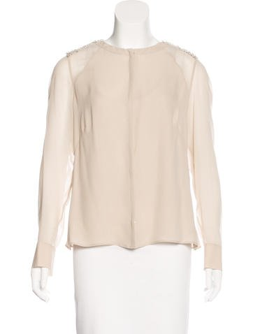 Akris Silk Embellished Top w/ Tags None