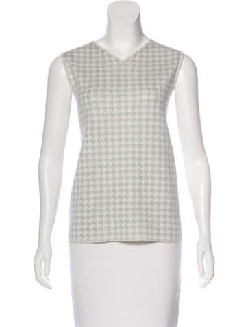 Akris Cashmere Houndstooth Sweater None