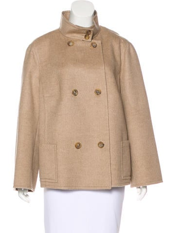 Akris Cashmere Double-Breasted Jacket None