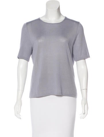 Akris Cashmere & Silk Knit Top None