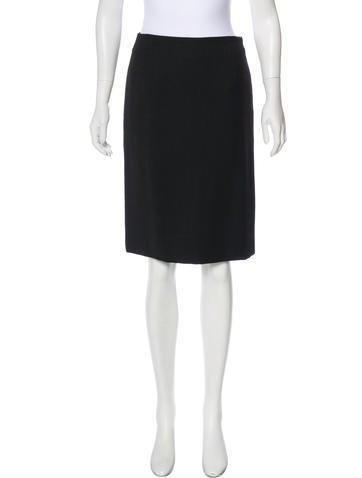 Akris Wool Knee-Length Skirt w/ Tags None