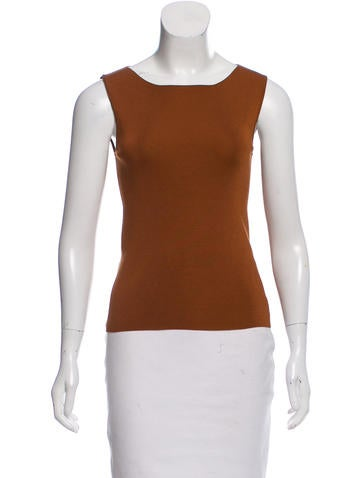 Akris Silk Sleeveless Top None