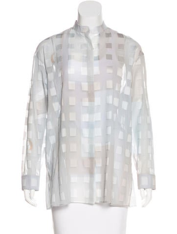 Akris Sheer Button-Up Top w/ Tags None
