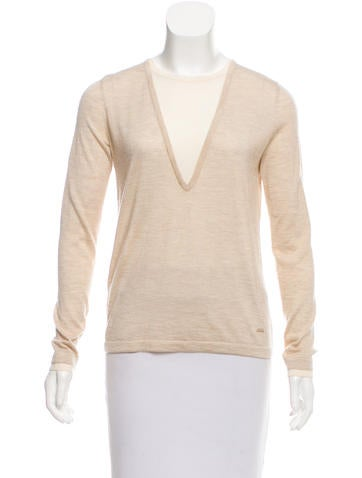 Akris Cashmere & Silk-Blend Rib Knit Sweater None