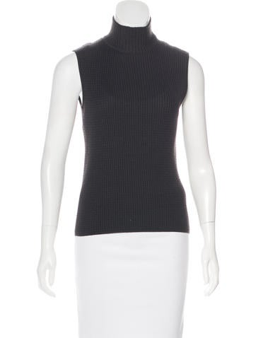 Akris Cashmere Turtleneck Top None