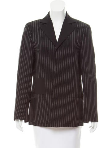 Akris Striped Wool-Blend Blazer None