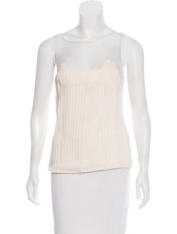 Akris Silk Pleated Top None