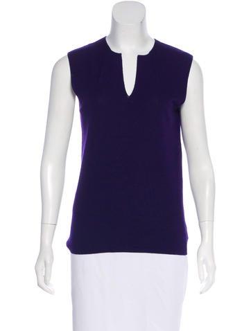Akris cashmere & silk sleeveless top None