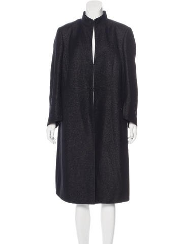 Akris Long Wool-Blend Coat None