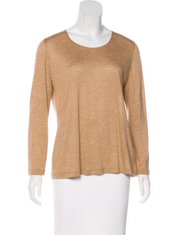 Akris Cashmere Long Sleeve Top None
