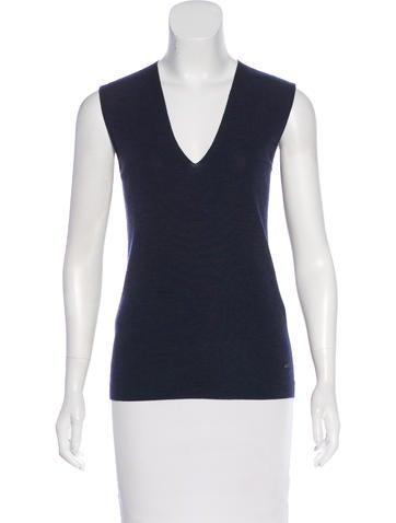 Akris Sleeveless Wool Top w/ Tags None