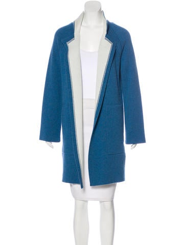 Akris Cashmere Knee-Length Cardigan None