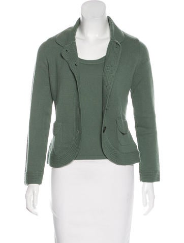 Akris Cashmere Cardigan Set None