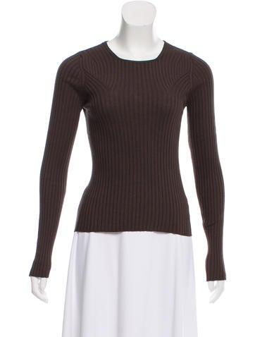 Akris Silk Rib Knit Sweater None
