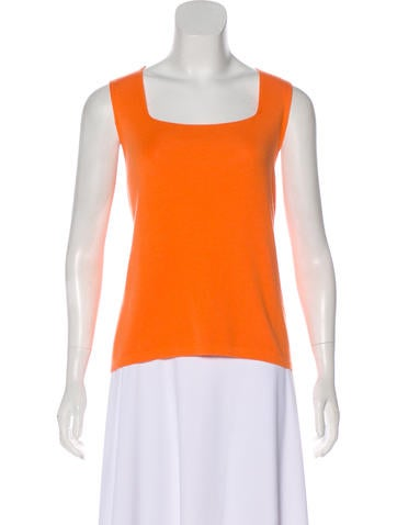 Akris Cashmere & Silk-Blend Sleeveless Top None