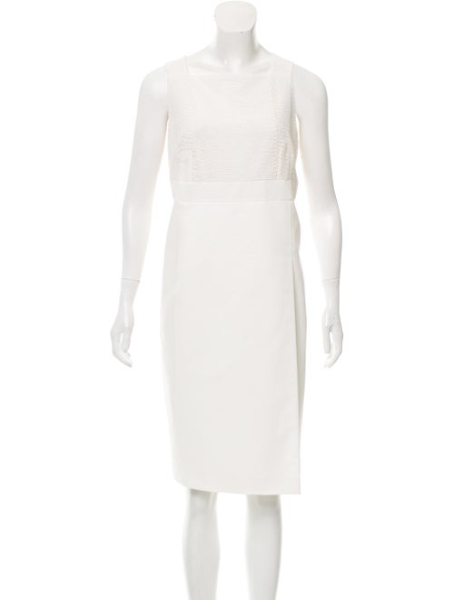 Akris Sleeveless Eyelet Dress