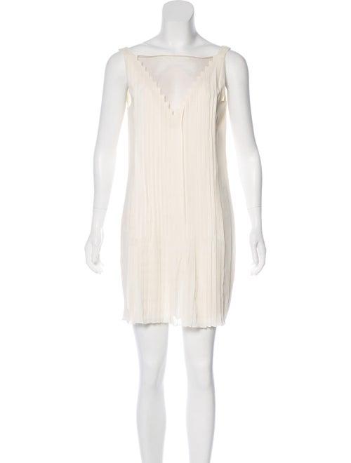 Akris Sleeveless Mini Dress White