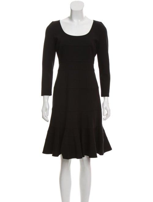 Akris Long Sleeve Flared Dress Black