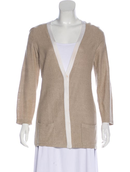 Akris Lightweight Knit Cardigan Beige