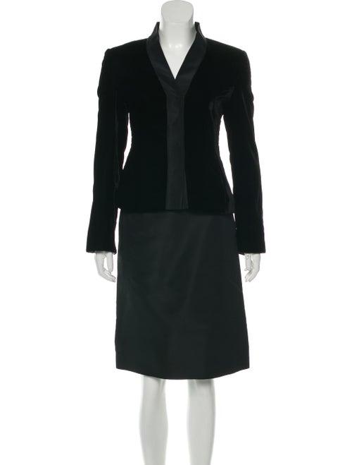Akris Velvet Skirt Suit Black