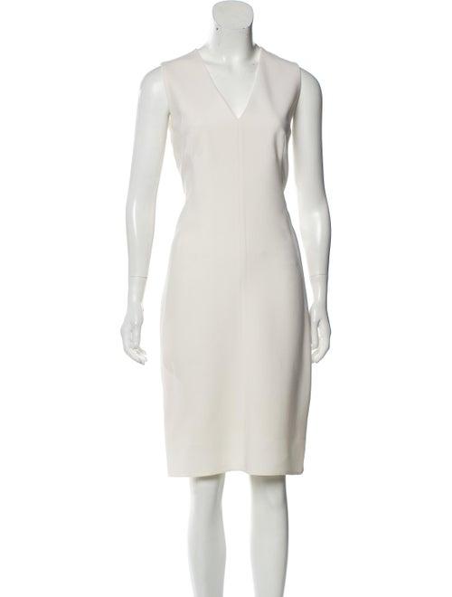 Akris Wool Sleeveless Dress White