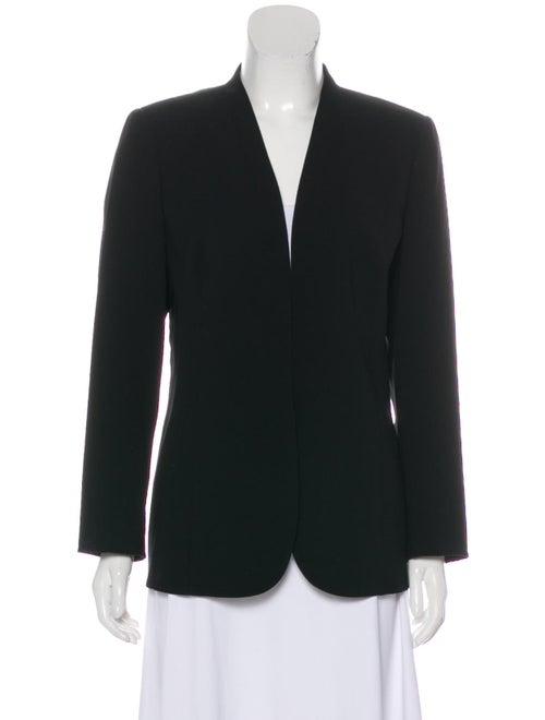 Akris Structured Collarless Blazer Black