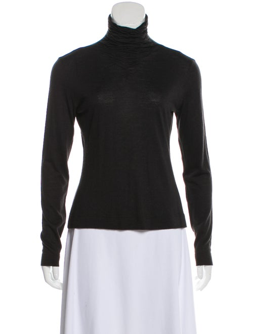 Akris Turtleneck Long Sleeve Top Black