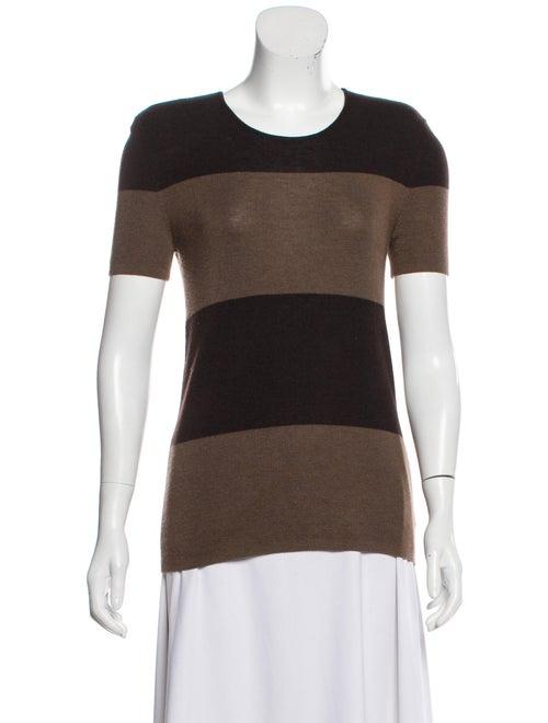 Akris Cashmere & Silk-Blend Short Sleeve Sweater