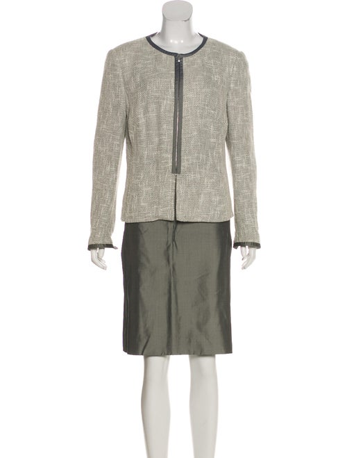 Akris Tweed Pattern Skirt Set