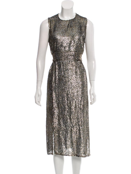 Akris Metallic Midi Dress metallic