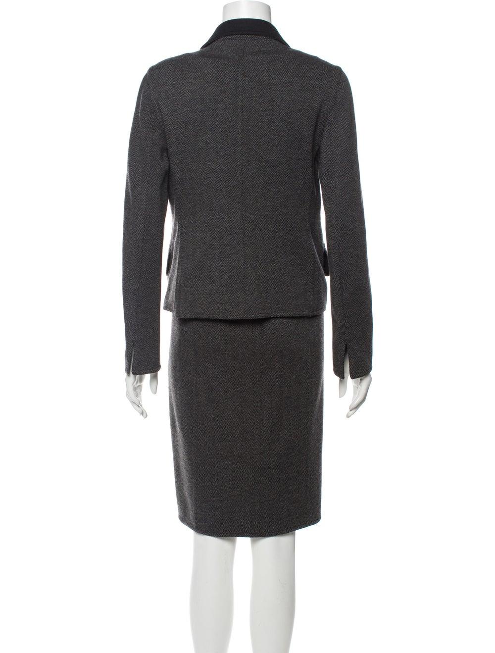Akris Tweed Pattern Dress Set Grey - image 3