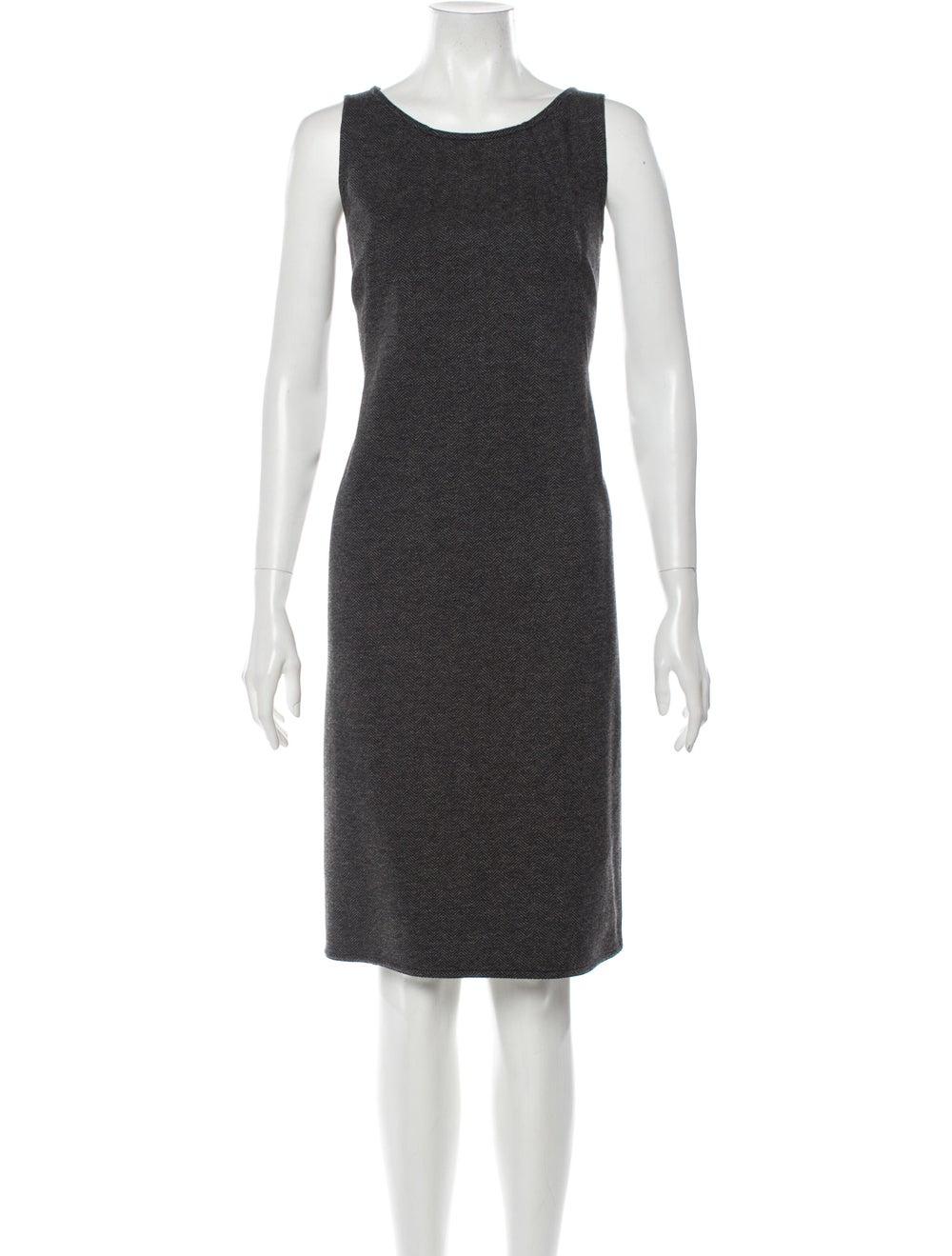 Akris Tweed Pattern Dress Set Grey - image 4