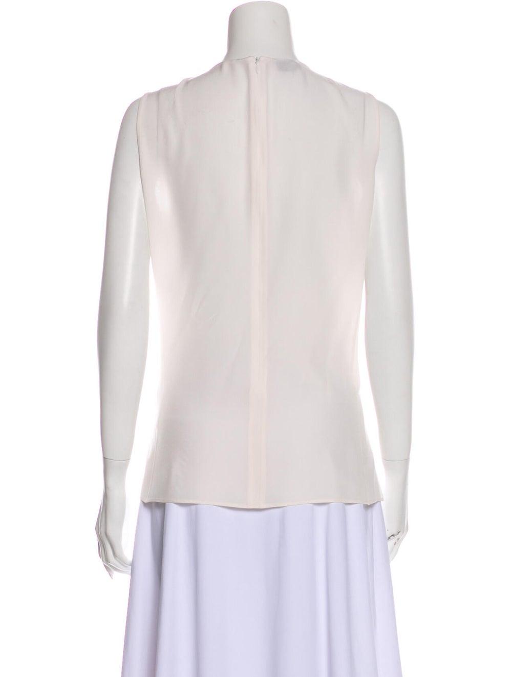 Akris Silk Lace Pattern Top White - image 3