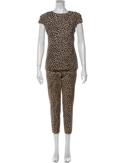 Akris Silk Animal Print Pant Set