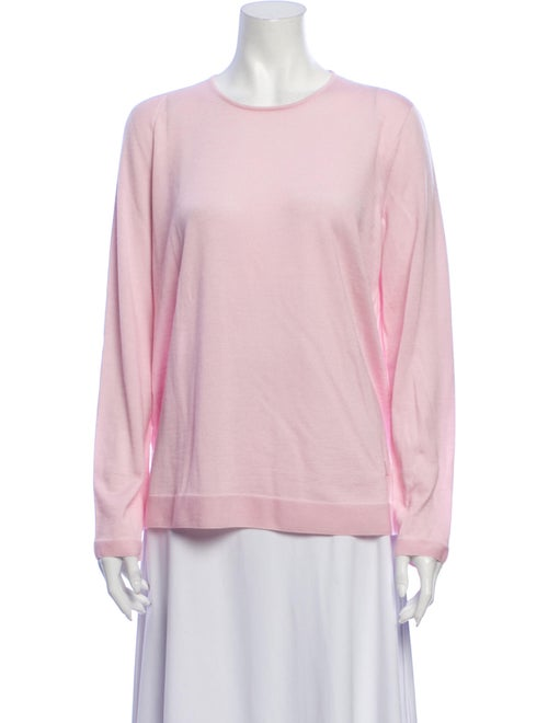Akris Cashmere Scoop Neck Sweater Pink