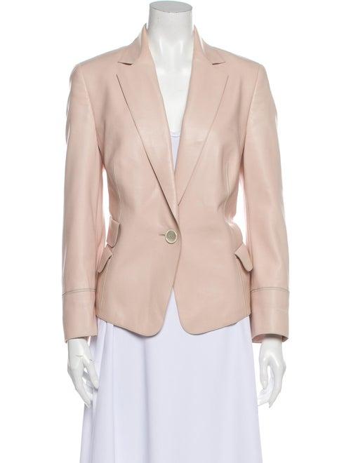 Akris Leather Blazer Pink