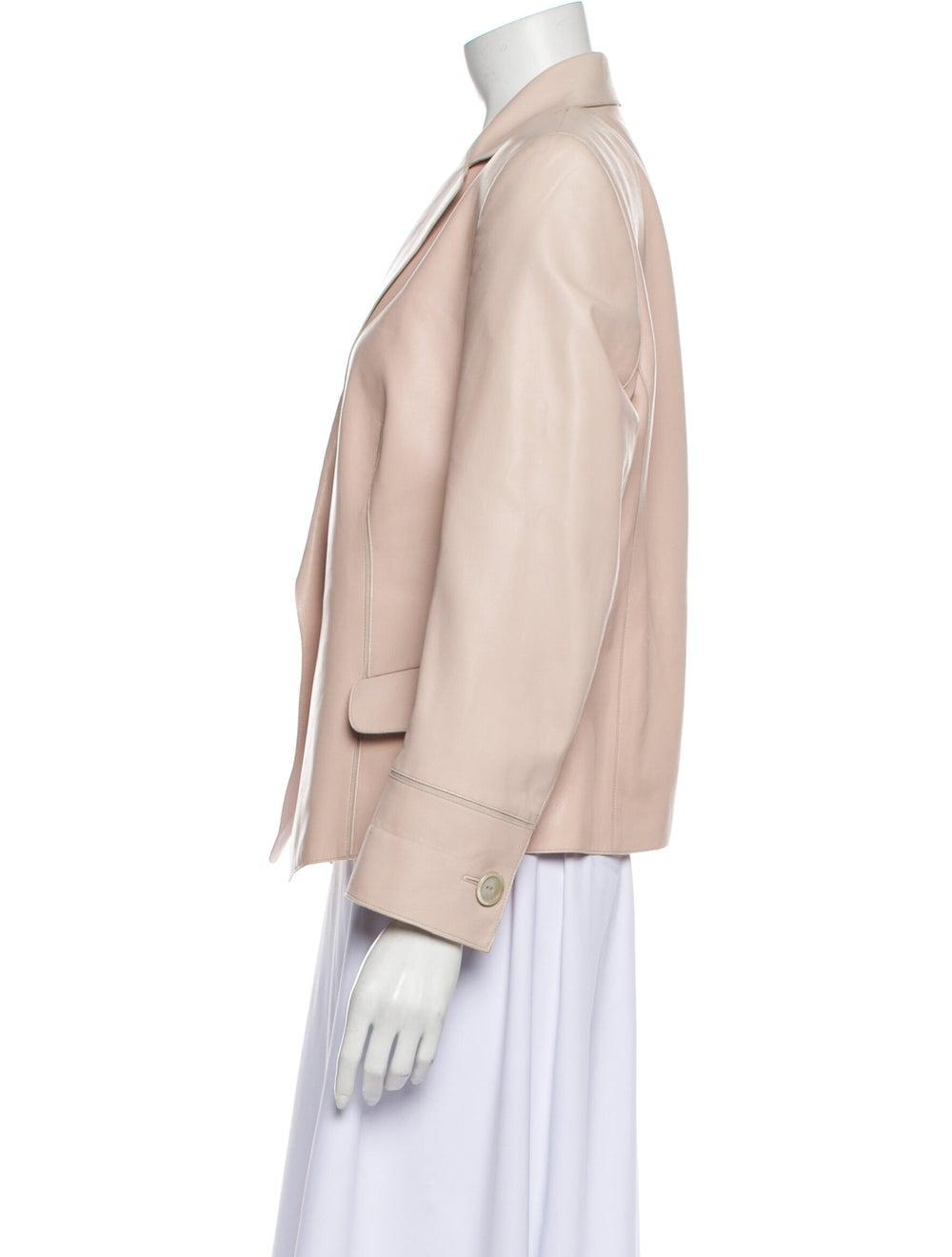 Akris Leather Blazer Pink - image 2