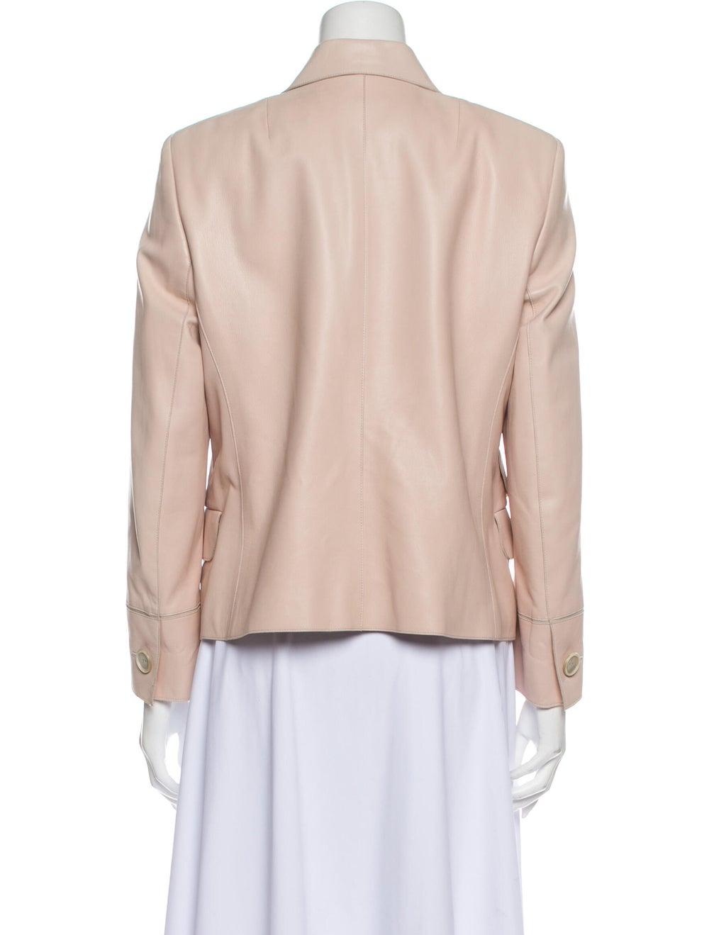Akris Leather Blazer Pink - image 3