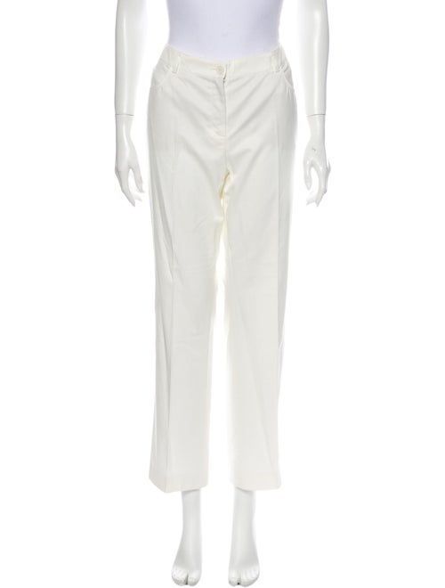Akris Wide Leg Pants White