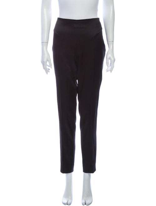 Akris Silk Straight Leg Pants Black