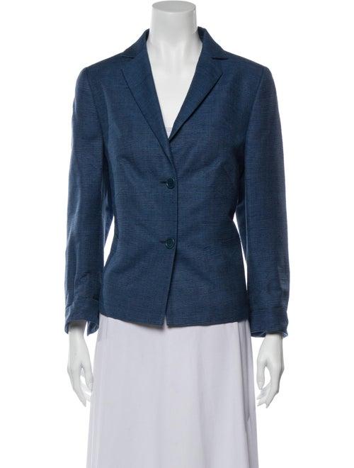 Akris Silk Blazer Blue