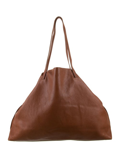 Akris Leather Tote Bag Brown