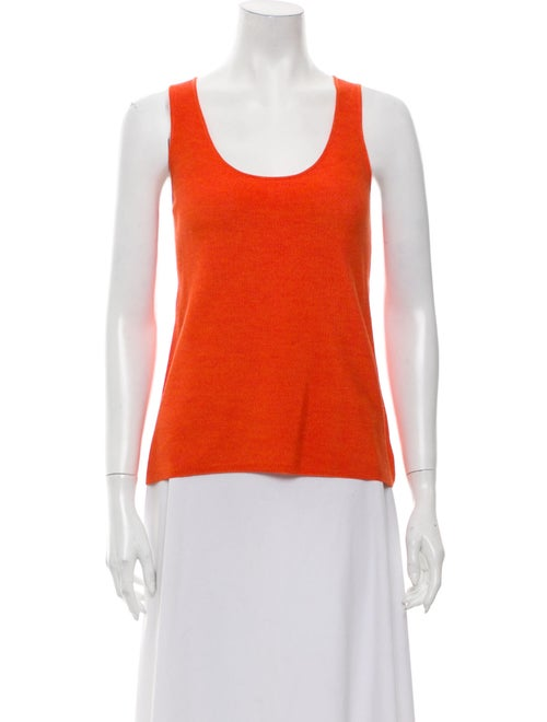 Akris Scoop Neck Sweater Orange