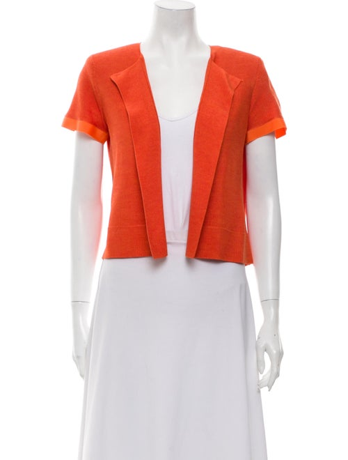 Akris Silk Open Front Sweater Orange