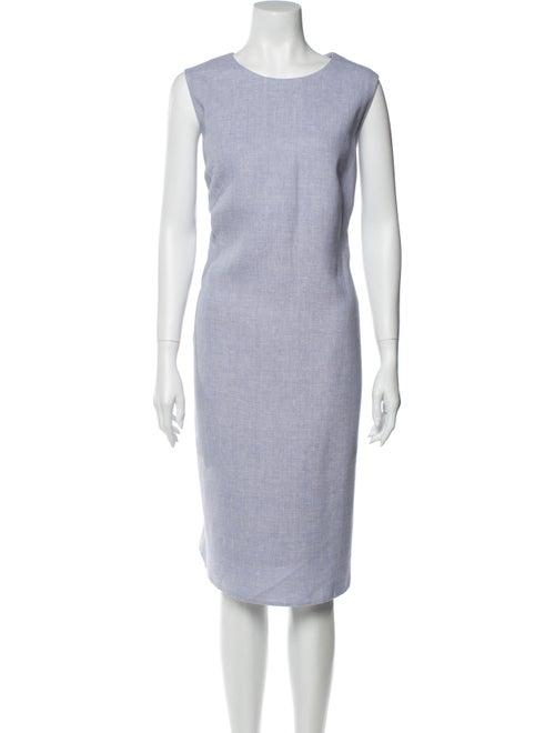 Akris Linen Midi Length Dress Purple
