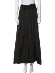 Akris Pleated Accents Long Skirt