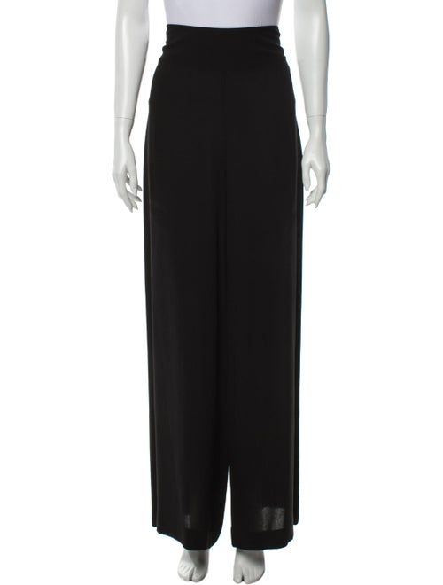 Akris Silk Wide Leg Pants Black