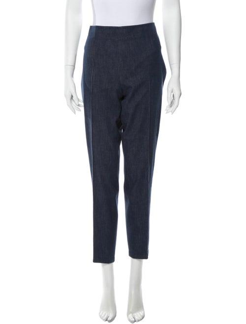 Akris High-Rise Straight Leg Jeans Blue